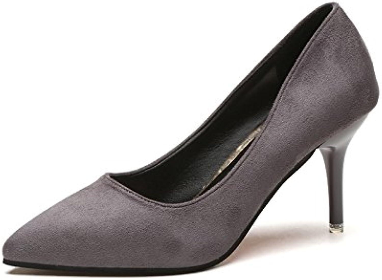 HRCxue Fein mit High Heels Hochzeit Schuhe sexy weiblichen TIPP Licht - einzelne Schuhe