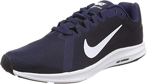 Nike Downshifter 8, Zapatillas de Entrenamiento Hombre, Azul (Midnight Navy/White-Dark Obsidian-Black 400), 42.5 EU