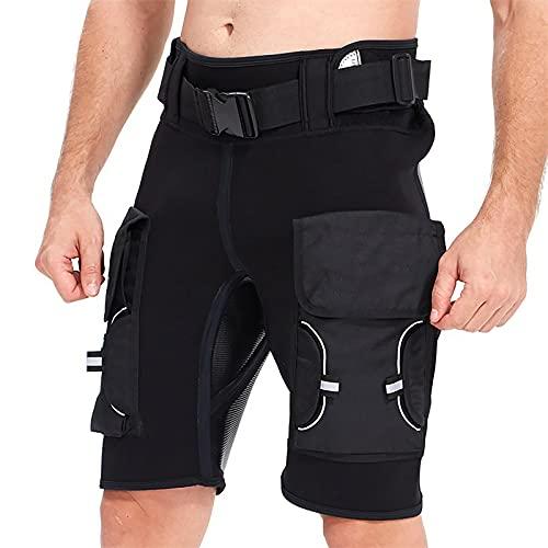 Rock88 Pantalones Cortos de Neopreno de 3MM para Hombres y Mujeres Cálidos Traje de Buceo para Buceo, Surf, Natación, Pesca Submarina, Kayak,XS