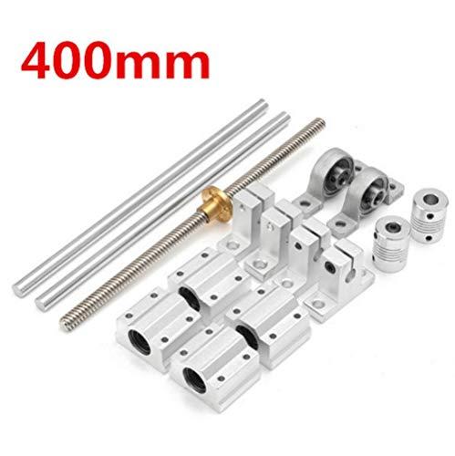 Parts Steel Optical Axes CNC Guide Bearing Housings Rail Shaft Support Lead Screws Rod Slide Bushing Set 15pcs 400mm