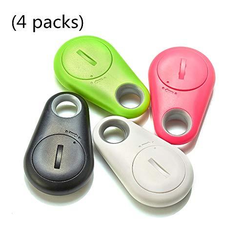Alarma Personal, Inalámbrico Bluetooth 4.0 Rastreador Niño Monedero Llavero Buscador Localizador GPS Alarma Anti-Perdida Sistema De Alarma Itag (4 Paquetes)