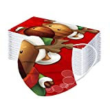 10-50 Piezas 3 Capas Bufanda para Adulto,Velo de Cómodo con Impresión de Navidad,Desechables Scarf