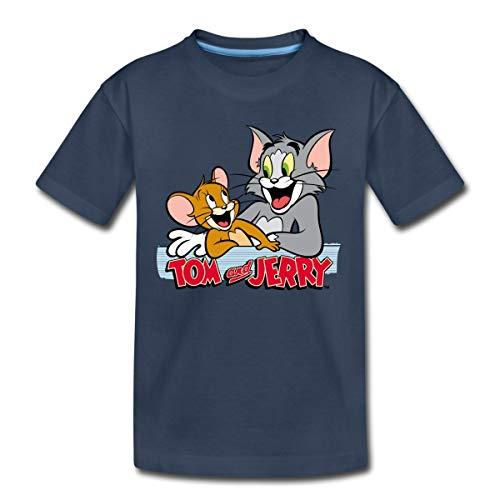 Tom Und Jerry Freunde Kinder Premium T-Shirt, 134-140, Navy