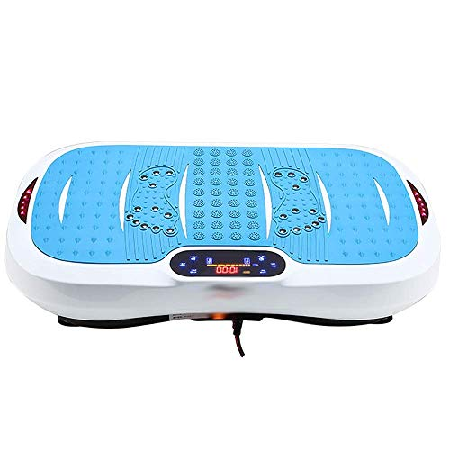 WEIZI Plataformas vibratorias música en Disco Bluetooth + UU con Mando a Distancia y Pantalla táctil LCD a Color Doble Control Placa vibratoria para Masaje de Cuerpo Completo Rosa