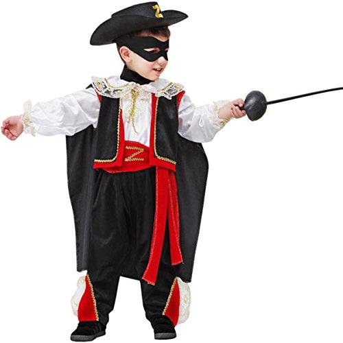 Pegasus Vestito Costume Maschera di Carnevale Baby - Piccolo vendicatore - Zorro - Taglia 4/5 Anni - 83 cm
