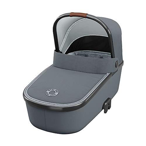 Maxi-Cosi Oria Capazo bebé ligero y plebagle compacto, colchón espacioso y confortable, capota protectora, color essential grey