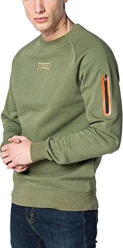 Pusher Apparel Herren Pusher Athletics Zip Sweater Sweatshirtjacke, Khaki, L