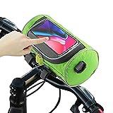JNUYISW Bolsa para Manillar de Bicicleta, Bolsa de Canasta de Bicicleta Impermeable Bandolera Extraíble Soporte para Teléfono con Pantalla Táctil Bolsa Delantera Bicicleta para Ciclismo