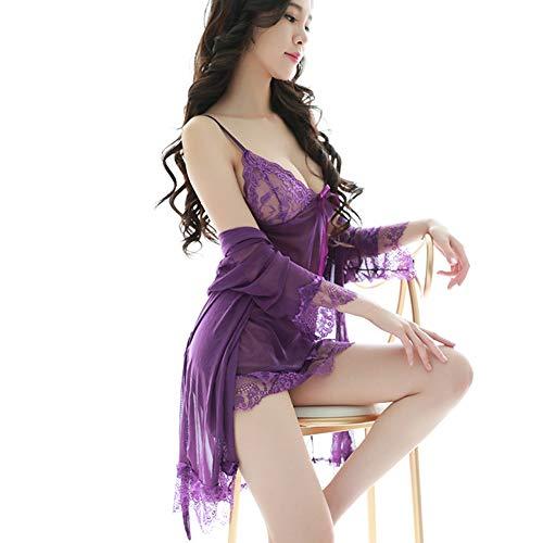 ETbotu Sexy Dessous,Frauen Pyjamas Nachtwäsche Sommer Pyjama Mujer Pyjama Violett Einheitsgröße