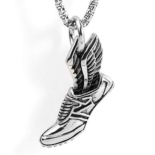 Halsketten, Ketten Für Herren,Europäischen Und Amerikanischen Edelstahl Halskette Männer Und Frauen Schmuck Mode Sportschuhe Anhänger