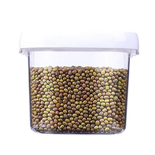 WHZG Recipientes Caja De Almacenamiento De Comida De Plástico Latas Selladas Refrigerador De La Cocina Al Vacío Tanque De Almacenamiento Botes para Alimentos (Size : Small)