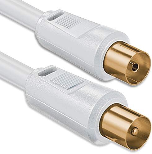 1aTTack 7507188 BK 250 - Cable de conexión coaxial (2,5m), color blanco
