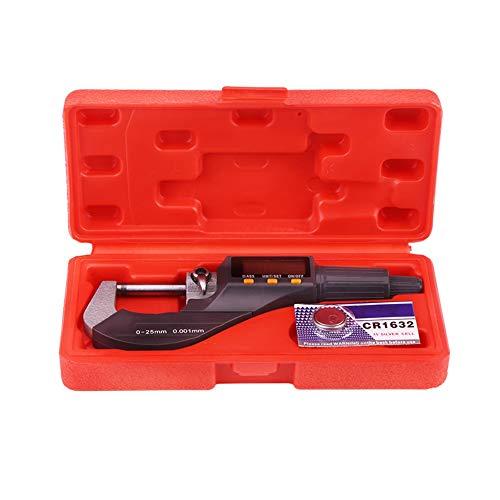 Micrometro Digital 25mm - Micrómetro 1pc Pantalla Electrónica Alta Precisión Exterior Medidor De Espesor Rango 0-25mm