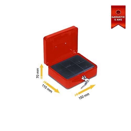 Cassetta portavalori Stark PV01Rosso 150x 70x 110mm