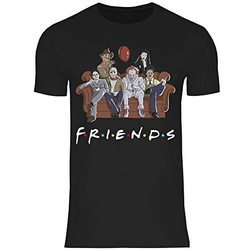 wowshirt T-Shirt Clown Halloween Horror Jason Vendredi 13 Sofa Effrayant Homme, Taille:M, Couleur:Black
