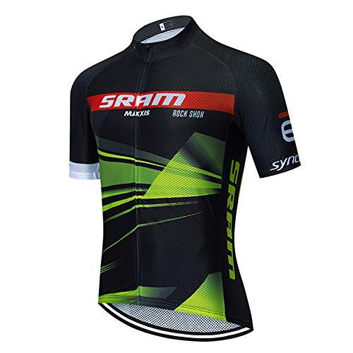Maillot Cyclisme Pro Homme Vetement de Velo Route Matière Mesh Respirante Maillot VTT Manche Courte Homme