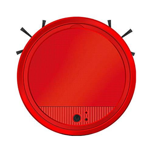 JLCCKJJS Aspiradora Robot de Barrido Limpiador de fregado húmedo Aspiradora Robot Aspiradora doméstica-Rojo