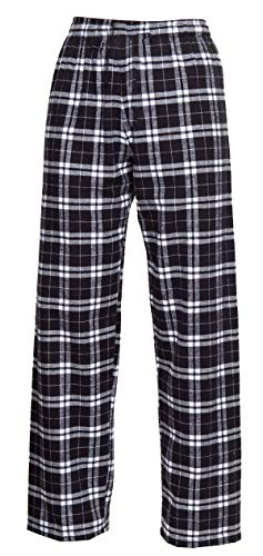 boxercraft - Youth Flannel Pant 100% Cotton with Pockets Black/White, YS