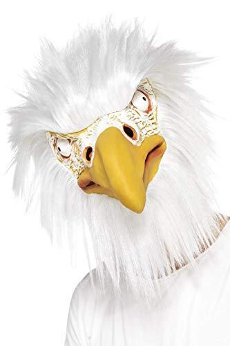 Smiffy's - Máscara de águila, de látex, color blanco (39521) , color/modelo surtido