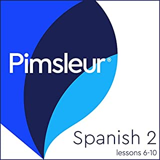 Pimsleur Spanish Level 2 Lessons 6-10     Learn to Speak and Understand Spanish with Pimsleur Language Programs              Written by:                                                                                                                                 Pimsleur                               Narrated by:                                                                                                                                 Pimsleur                      Length: 2 hrs and 31 mins     5 ratings     Overall 4.8