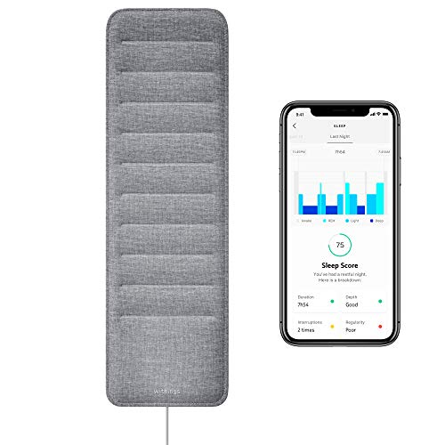Withings Sleep - Sleep Tracking Pad Under The Mattress with Sleep Cycle Analysis
