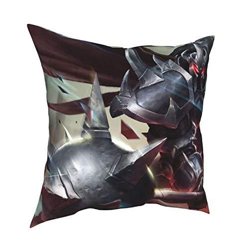 LAOLUCKY Mordekaiser - Fundas de almohada decorativas suaves con cremallera para el hogar, hotel, coche, sofá, decoración de 50,8 x 50,8 cm