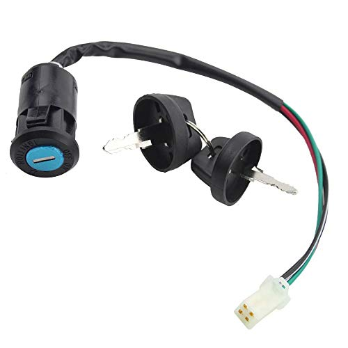4 Wires Ignition Switch Key Set with Cap for 50cc 70cc 90cc 110cc 125cc 150cc 200cc 250cc TaoTao SUNL ATV Dirt Bike Electric Scooter