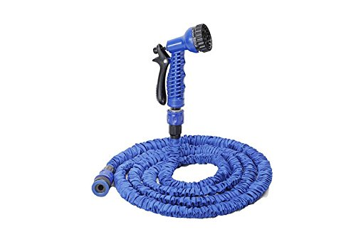 2016 Water Flexible Hose Latex Material 25/50 / 75/100 Feet with 8 Function Spray Gun (75FT)