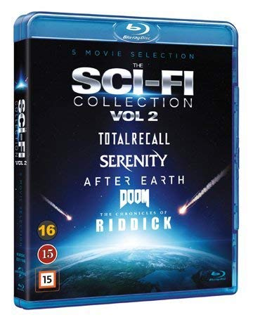 Sci-Fi Collection Vol. 2 - 5-Disc Set ( Total Recall / Serenity / After Earth / Riddick / Doom ) [ Origen Sueco, Ningun Idioma Espanol ] (Blu-Ray)