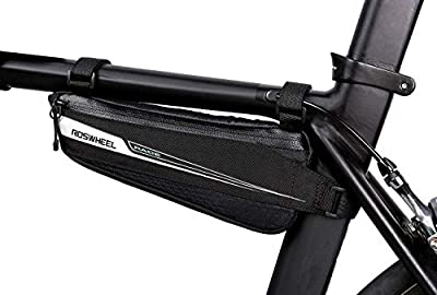 Roswheel Race Series 121444 Bike Frame Mounted Bag Bicycle Triangle Pouch Cycling Accessories Pack for Road Bike