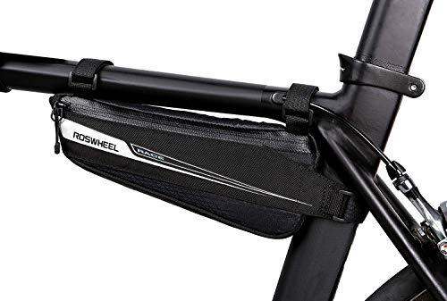 Roswheel Race Series 121444 Fahrradrahmen-montierte Tasche, dreieckige Tasche, Fahrrad-Zubehör-Set für Rennrad