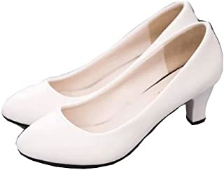 [Shoze] シンプルデザイン シューズ 歩きやすい 通勤 面接 就職活動 レディース 女性 黒 ブラック オフホワイト ライトベージュ 普段