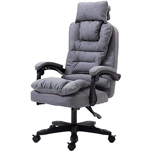 SXLZ Racing Gaming Chair Günstige Computer Video Chair Große Größe Ergonomisches Design Mit Fußstütze Für Ultimative Erfahrung,Grey-withoutFootrest