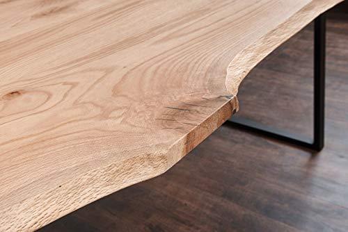 Exim Welt Massivholztisch Roteiche Tisch Esstisch Holztisch Baumtisch Baumkante Loft