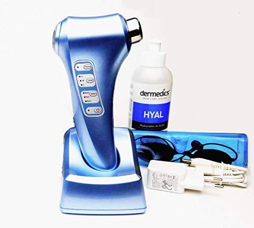 Appareil cosmétique à ultrasons 3 MHz pour le corps et le visage Galvanic Photon Lumière de massage anti-rides Avec 250 g d'acide hyaluronique