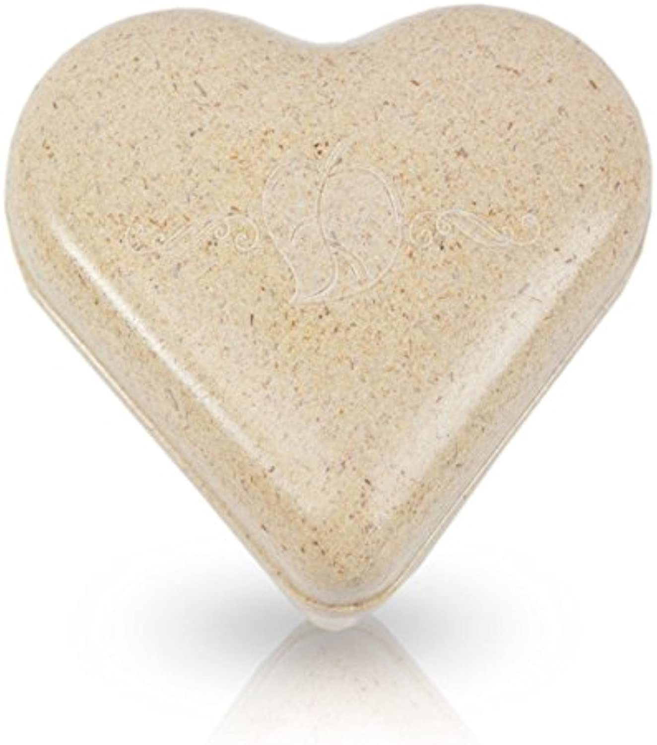 Heart Recycled Material Pet Urn  Medium  Holds Up to 55 Cubic Inches of Ashes  Brown Biodegradable Pod