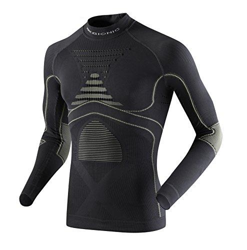 X-Bionic Adultes Vêtements Fonctionnels Man Acc Evo UW Haut LG SL Turtle Cou - Anthracite/Gris Perle, S/M