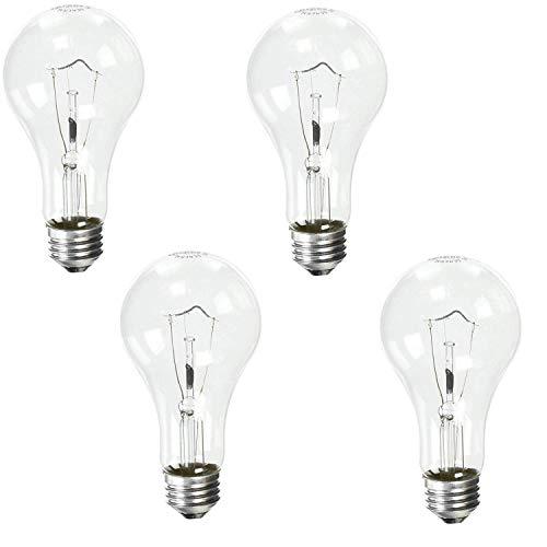 GE Lighting 16068 150-Watt A21 Crystal Clear, 4 Pack