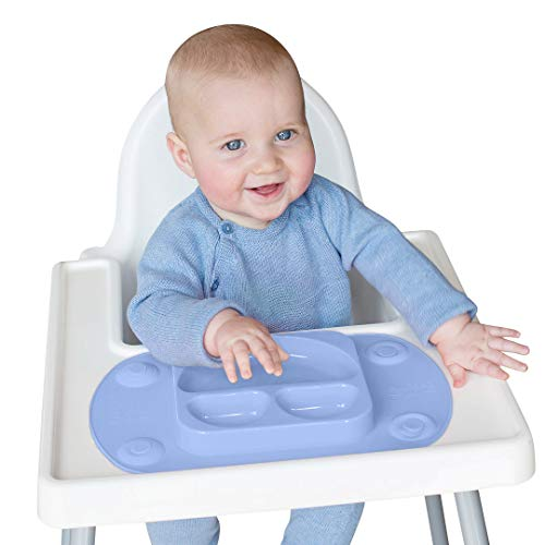 EasyMat Portable Baby Suction Plate (Mini, Blue)