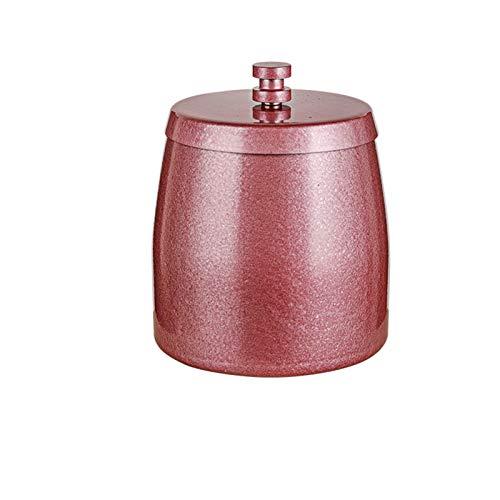 Cenicero de acero inoxidable con tapa, anti-cenicero, Home Hotel Internet Cafe Cenicero, Caja de cigarrillos de regalo de publicidad Adecuado para uso en interiores Pink