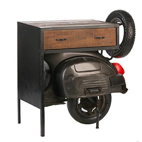 Dafloxx Geniale Cassettiera Scooter Casablanca 90cm Metallo Regal Tavolino Tavolo Regal Vespa Moto