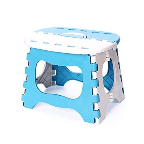 Kids Baby Plastic klapstoel - dikker draagbaar ontwerp - veilig vergrendelingssysteem en non-slip voet grip - ideaal voor outdoor reizen, vissen, schetsen, thuis Essentials 25 * 18.5 * 19.5cm Blauw