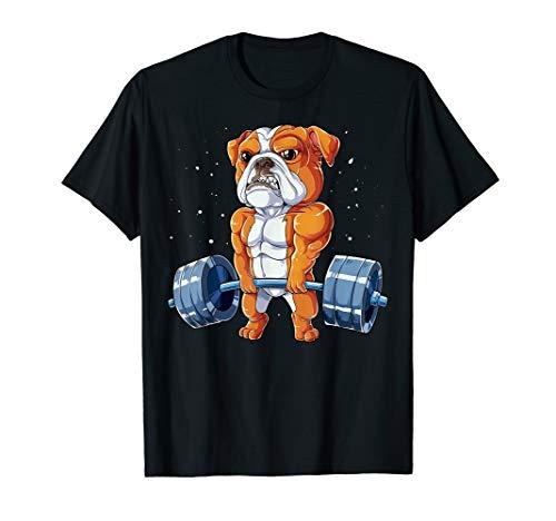 English Bulldog Weightlifting Funny Deadlift Men Fitness Gym T-Shirt