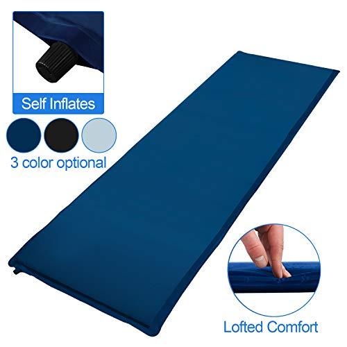 VINGO Isomatte Camping Selbstaufblasende Luftmatratze 190x60x3cm Ultraleichte Isomatte für Indoor Outdoor, Wandern, Reise, Strand(Blau)