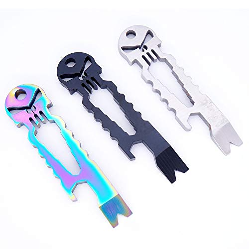 D&S Vertriebs Lot de 3 porte-clé en acier inoxydable