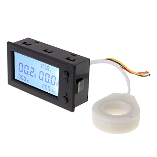 Qiman DC 100A 200A 400A digital Voltmeter Amperemeter Batterie Kapazität coulometer Power strom watt-stunde meter Mit Halle sensor (100A)
