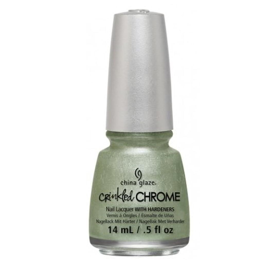 蜂どれでも風刺(6 Pack) CHINA GLAZE Nail Lacquer - Crinkled Chrome - Wrinkling the Sheets (並行輸入品)