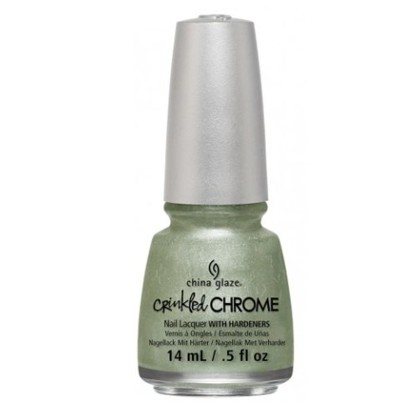 腐食するスカープ溶けたCHINA GLAZE Nail Lacquer - Crinkled Chrome - Wrinkling the Sheets (並行輸入品)