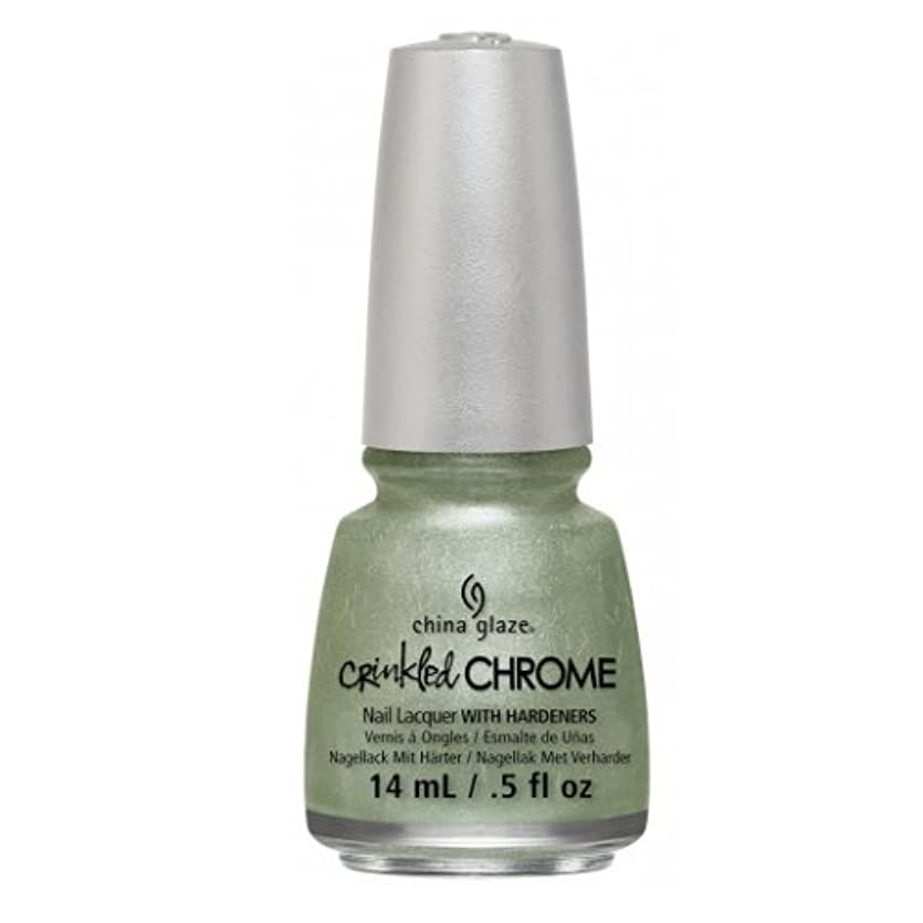 天気くしゃくしゃ罰する(3 Pack) CHINA GLAZE Nail Lacquer - Crinkled Chrome - Wrinkling the Sheets (並行輸入品)