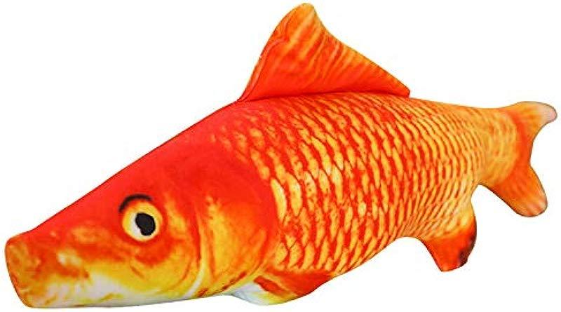 MLXR 3D Fish Pillow Simulation Carp Fish Shape Plush Toys Small Fish Shape Decorative Cushion Kids Cushion Children S Room Decoration Red 11 8 Inch